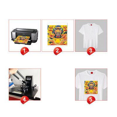 100pc A4 Sublimation Paper Iron On Heat Press Transfer Paper inkjet Print Tshirt 11