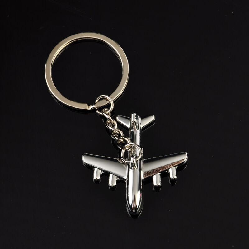 Classic 3D Simulation Model airplane plane Keychain Key Chain Ring Keyring Gift 6