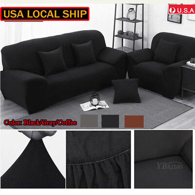 1-3 Seater Stretch Loveseat Sofa Couch Protect Cover Slipcover Washable Elastic 2