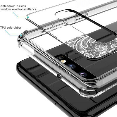 Galaxy S10 Plus S9 S8 Plus S7 Note 8 9 Shockproof Clear Case Mandala For Samsung 4