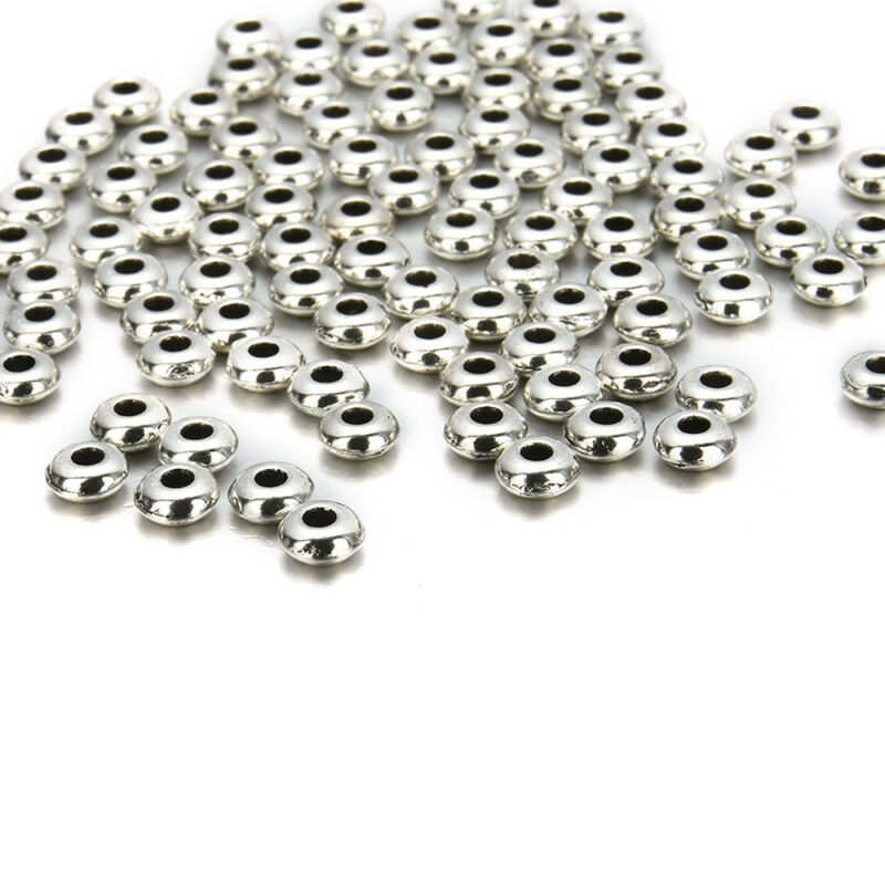 100PC Silver Stainless Steel Round Spacer Beads DIY Jewelry Making Wholesale Lot 9