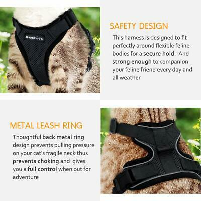 Rabbitgoo Cat Harness Reflective Walking Jacket Adjustable with 59 Inches Leash 7