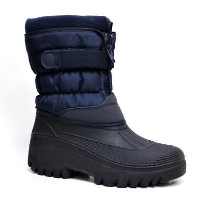 Mens Ladies Snow Boots Winter Waterproof Mucker Thermal Wellingtons Fur Boots 4