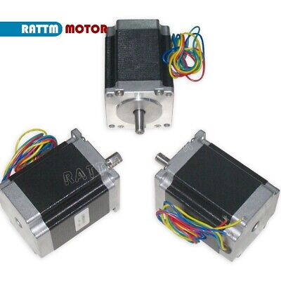 【IT】 3Pcs Nema23 Hybrid Stepper motor single shaft 270oz.in 1.8N.m 3A 76mm CNC 9
