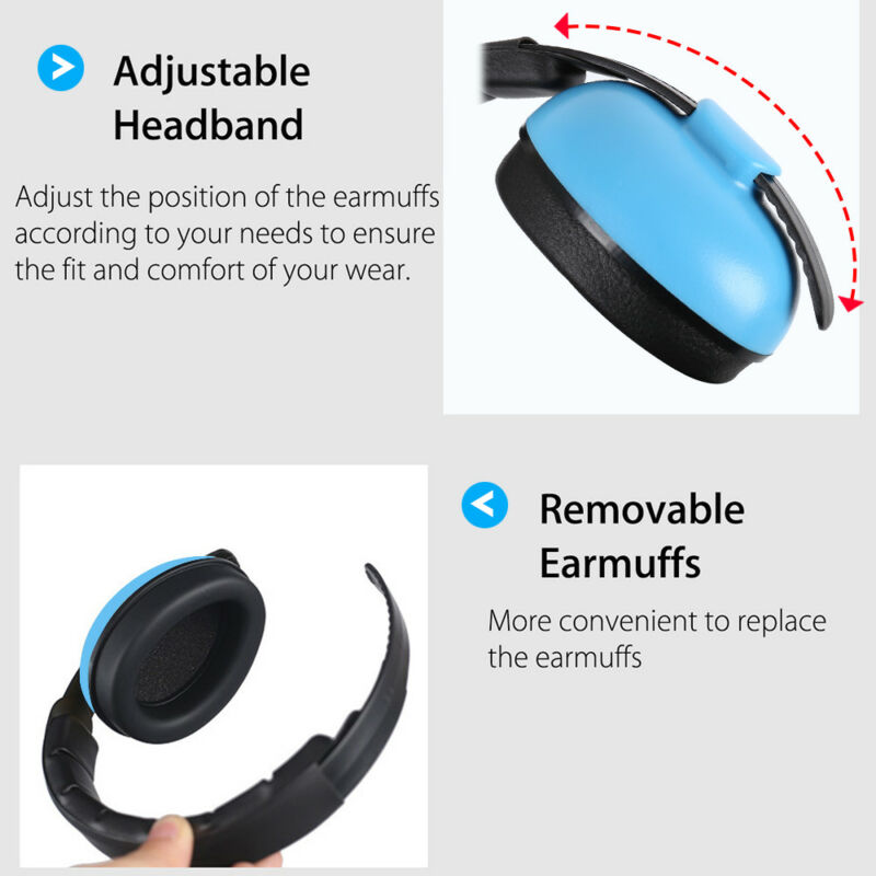 Kids Baby Ear Defenders Newborn Childrens Muffs Noise Reduction Protectors Child 7