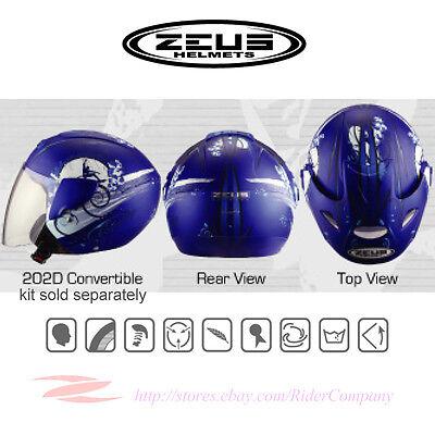 ZEUS ZS-507B Motorcycle Scooter Jet Helmet DOT Safety Approved
