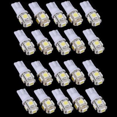 10X T10 5050 5SMD White LED Light Super Bright Car Interior Wedge Lamp 12V