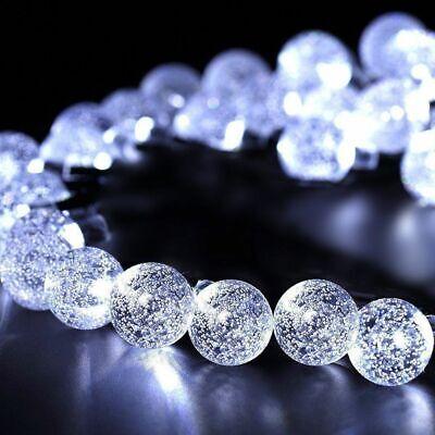 50 LED solaire de jardin alimenté fée partie chaîne boule de cristal lumière 5