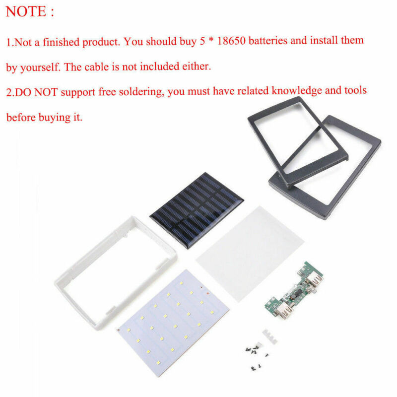 30000mAh Dual USB Portable Solar Battery Charger Power Bank For Cell Phone 3
