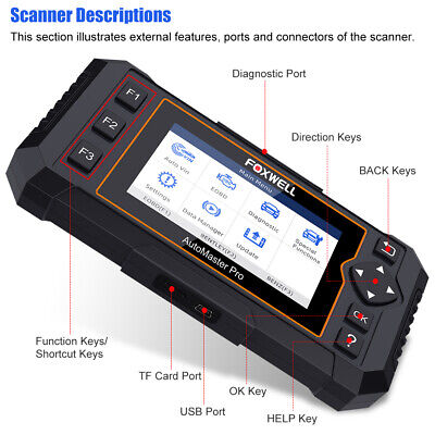 Foxwell OBD2 Scanner Full System Auto Diagnostic Tool Oil EPB Reset Code Reader 9
