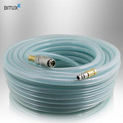"""Bituxx 20 Meter PVC Druckluftschlauch mit 1/4"""" Steckkupplungen Kompressor 20m 2"""