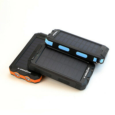 Waterproof 300000mAh Portable Solar Charger Power Bank Dual USB Battery RT Phone 3