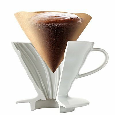 Hario V60 02 Coffee Dripper Ceramic WHITE VDC-02W For 1 - 4 Cup from JAPAN 4