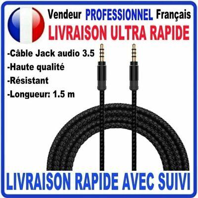 Câble Prise Jack 3.5mm Male/Male Stéréo pour Smartphone Casque Auto 1/1.5/2/3m 5