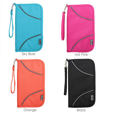 RFID Blocking Anti Scan Travel Wallet Passport Credit Card Holder Pouch Pen Tag 5