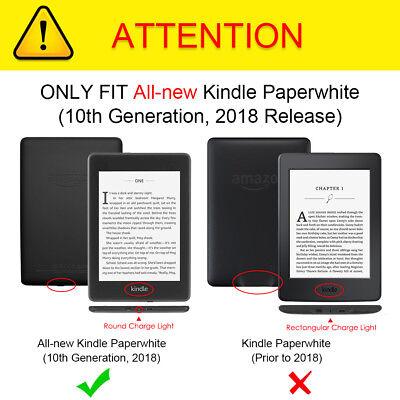 For Amazon Kindle Paperwhite 10th Generation 2018 Case Slimshell Auto Sleep/Wake