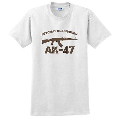 Russian Funny Shirt T-shirt Gift Present Футболка Zombi Tank Gun AK-47 Sz M L XL