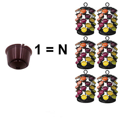 1X/2X Capsules For Dolce Gusto Rechargeable Refillable Reusable Coffee 2