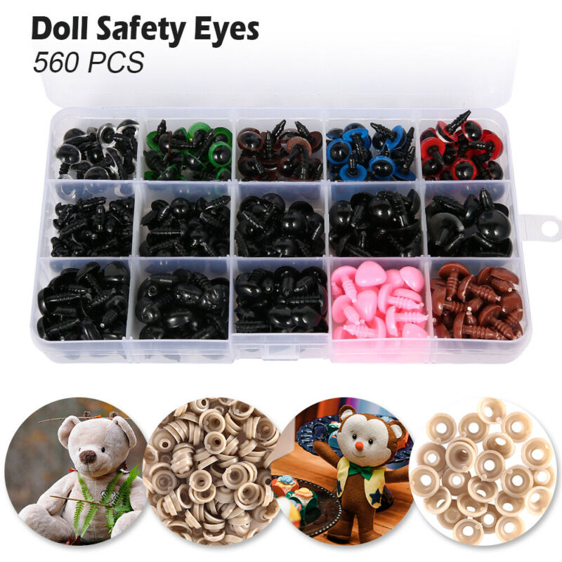 560PCS Various Safety Eyes Noses for Teddy Bear Making Soft Toys Animal Dolls 3