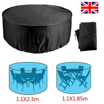 Extra Large Garden Rattan Outdoor Furniture Cover Patio Table Protection UKSTOCK 4