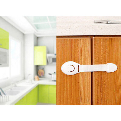 10X Drawer Cabinet Safety Locks Cupboard Lock Doors Stopper For Children Infant 4