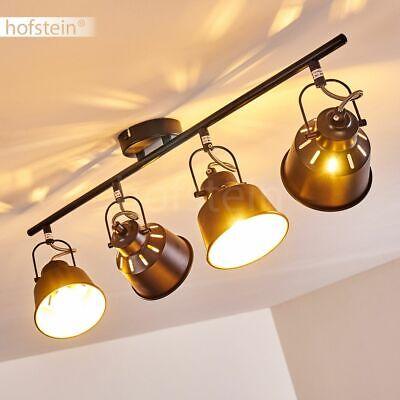 Retro LED Decken Schlaf Wohn Zimmer Lampe Flur Küchen Leuchte Vintage goldfarben