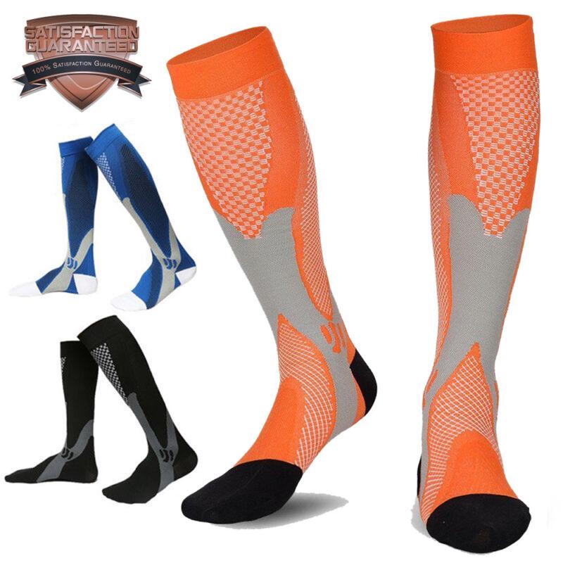 Pair Compression Socks Medical Travel Running Anti Fatigue Varicose Stockings AU 7