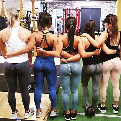 Womens Sports Scrunch Butt Lift Push Up Ladies Running Gym Leggings Yoga Pants 9