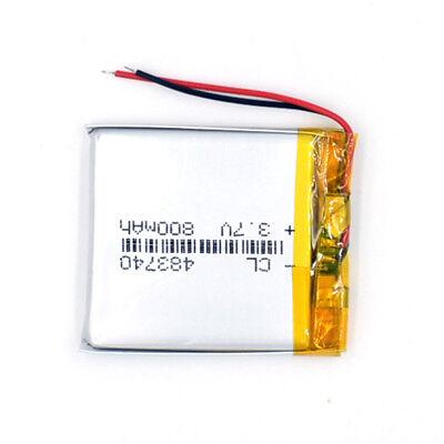10pcs 483740 Rechargeable Battery 3.7V 800mAh Li-Polymer Li-ion LiPo for GPS MP3 5
