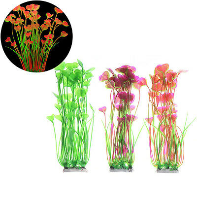 Artificial Water Plants for Fish Tank Aquarium Landscape Plastic Decor Ornament 2