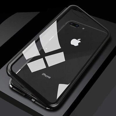 Coque Protection Magnétique Arrière Verre Trempé iPhone 6 6S 7 Plus 8 XR X S MAX 10
