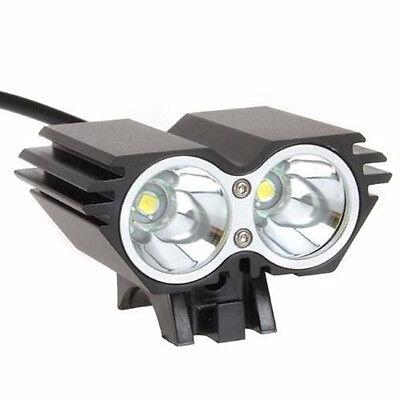 Linterna para bicicleta foco luz recargable de 8000LM 2 x CREE XM-L U2 led 12