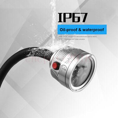 3W/6W/12W Waterproof Flexible LED Lamp Working Light Fixed Base CNC Mill Drill 10