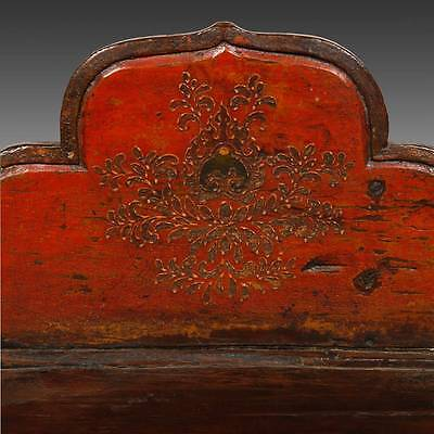 Rare Antique Buddha Stand Altar Painted Pine Tibet Chinese Furniture 19Th C. 5