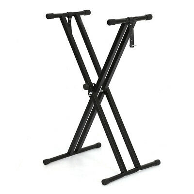 Electronic Piano X Stand Music Keyboard Standard Portable Rack Adjustables Metal 7