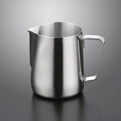 Stainless Steel Milk Frothing Jug Frother Coffee Latte Container Metal Pitcher 7