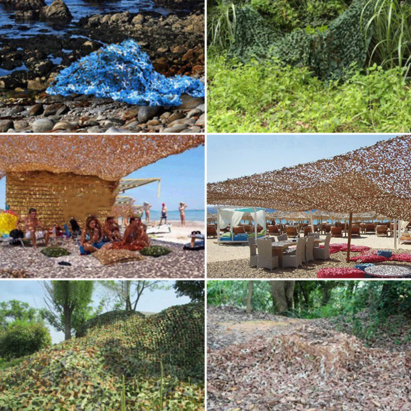 Camo Net Camouflage Netting Hunting Shooting Hide Glare Proof Nets Hide Army CA 3