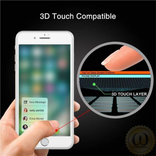 For iPhone 8 7 6S 6 Plus Caseswill FULL COVER Tempered Glass Screen Protector 4