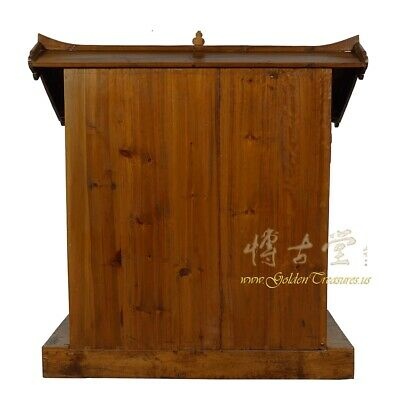 19 Century Antique Chinese Wooden Carved Altar/Buddha House/Shrine 12