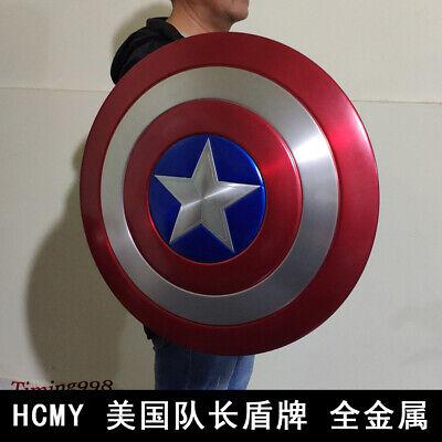1:1 Avengers Captain America Shield Alloy Metal Version Cosplay Prop Display 10