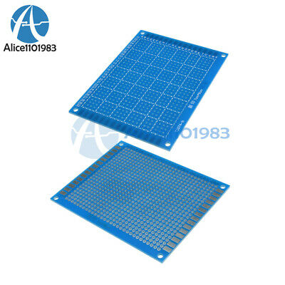 2PCS Single Side Prototype PCB Tinned Universal Breadboard  70mmx90mm FR4