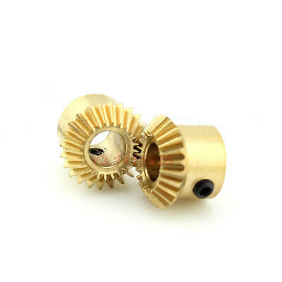 0.5Modulus 24 Teeth Bore 4mm/5mm Brass Umbrella Tooth 90° 1:1 Pairing Bevel Gear