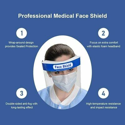Reusable Face Shield Anti-dust, Anti-droplets, Anti-fog, Protection - multi pack 8