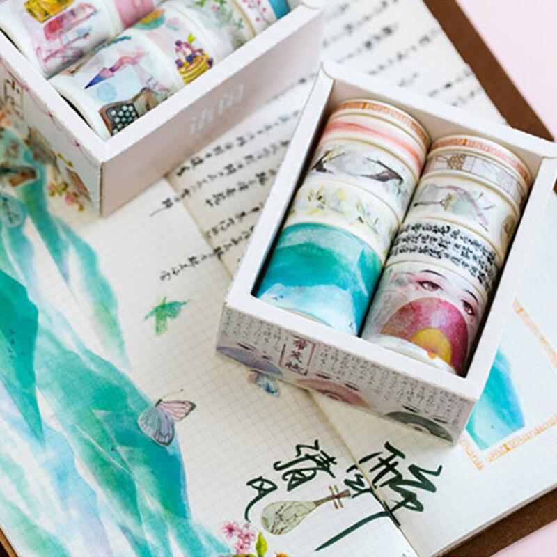 10Rolls/pack Washi Tape DIY Decorative Scrapbooking Paper Adhesive Sticker Craft 4