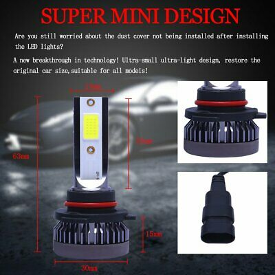 Mini 9005 + 9006 Combo LED Headlight Kit 3200W 520000LM Hi/Lo Beam Bulbs 6000K 12