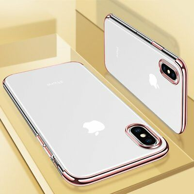 Ultra Slim Shockproof Silicone Clear Cover Case for iPhone XR XS MAX X 8 7 6s 6 4