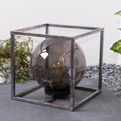 LED Deko Lampe Außen Kugel Strahler Würfel-Design Garten Tisch Leuchte SOLAR