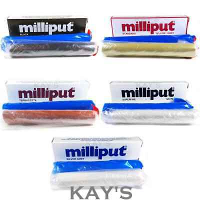 Milliput Epoxy Resin Putty Direct Standard,terracotta,grey,black,superfine White