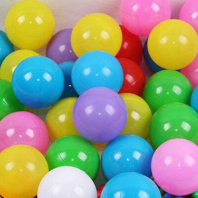 100pcs Colorful Ball Soft Plastic Ocean Ball Funny Baby Kids Swim Pit Pool Toys 11