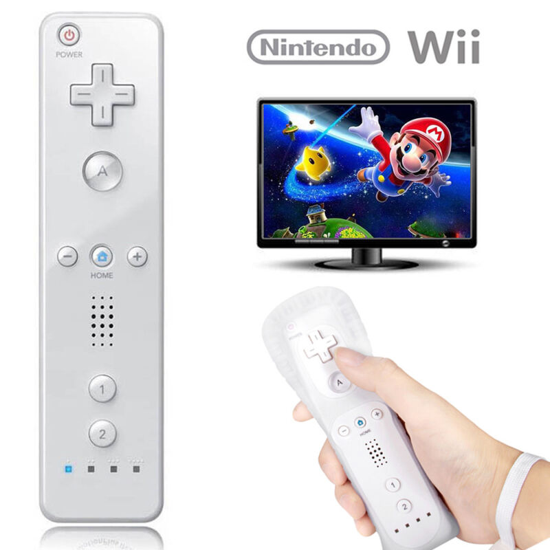 1/2X White Remote Wiimote Nunchuck Controller Set Combo for Nintendo Wii Game 2